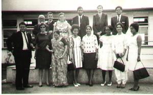 Manuel Pinto with Aga Khan Masaka Teachers in December of 1966.